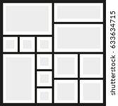 vector frames photo collage   Shutterstock .eps vector #633634715