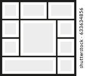 vector frames photo collage | Shutterstock .eps vector #633634856