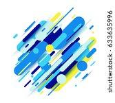 vector illustration of dynamic... | Shutterstock .eps vector #633635996