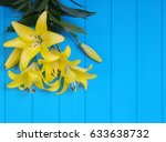 fresh spring lily flowers on...   Shutterstock . vector #633638732
