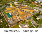 aerial view of prison bory.... | Shutterstock . vector #633642842