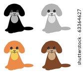 four nice little dogs on white...   Shutterstock .eps vector #63364627