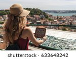 young travel woman is taking... | Shutterstock . vector #633648242