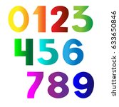 bright numbers set | Shutterstock .eps vector #633650846