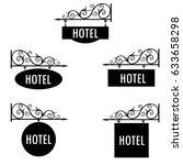vector illustration hotel... | Shutterstock .eps vector #633658298