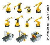 isometric set of robotic hand... | Shutterstock .eps vector #633671885