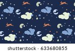 a seamless pattern with rabbits ...   Shutterstock .eps vector #633680855
