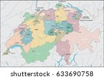 map of switzerland | Shutterstock .eps vector #633690758