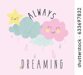 cute clouds iluustration vector ... | Shutterstock .eps vector #633697832