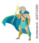 zeus jupiter god of the thunder ... | Shutterstock .eps vector #633713282