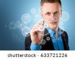 network. | Shutterstock . vector #633721226