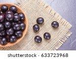 fruits and acai powder... | Shutterstock . vector #633723968