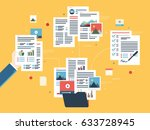 folder with finance documents ... | Shutterstock .eps vector #633728945