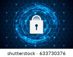 abstract technology concept... | Shutterstock .eps vector #633730376