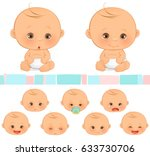 Stock vector baby emotions 633730706