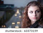 beauty girl in night city | Shutterstock . vector #63373159