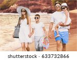 beach. | Shutterstock . vector #633732866