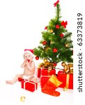 festive time for a cute baby | Shutterstock . vector #63373819