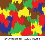abstract camouflage pattern.... | Shutterstock .eps vector #633740255
