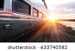 electric passenger train. very