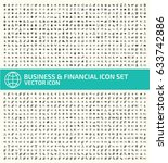 business and finance icon set... | Shutterstock .eps vector #633742886