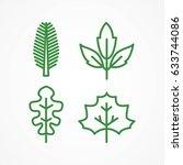 leaf icon set | Shutterstock .eps vector #633744086