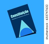 brazilian federal constitution... | Shutterstock .eps vector #633747632