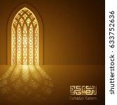 ramadan kareem greeting card... | Shutterstock .eps vector #633752636