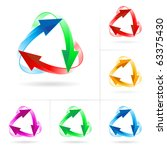 set  2 of different colored...   Shutterstock .eps vector #63375430