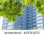 modern office building with... | Shutterstock . vector #633761072