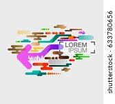 abstract arrow modern background | Shutterstock .eps vector #633780656