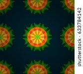 vector ethnic mandalas  doodle... | Shutterstock .eps vector #633784142