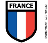 france shield patch with... | Shutterstock .eps vector #633786932