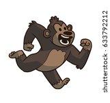 vector cartoon image of a cute... | Shutterstock .eps vector #633792212