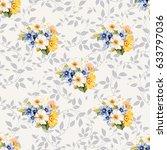 seamless pattern blue white...   Shutterstock .eps vector #633797036