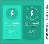 flash sale card ui design with...
