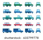 Set Of Various Car Types And...
