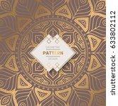wedding invitation. vintage... | Shutterstock .eps vector #633802112