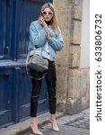 paris february 28  2017. street ... | Shutterstock . vector #633806732