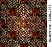 3d floral seamless pattern...   Shutterstock .eps vector #633811196