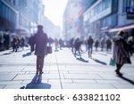 crow of people walking on city... | Shutterstock . vector #633821102