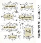 doodles ornament | Shutterstock .eps vector #63383377