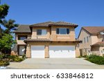 houses and estates in an... | Shutterstock . vector #633846812