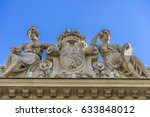 Small photo of Facade detail of Real Academia Nacional de Medicina building. Built in 1912 by Luis Maria Cabello Lapiedra. Located in Arrieta Street, Madrid, Spain