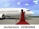 boarding commercial  airplane... | Shutterstock . vector #633856868
