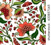 seamless pattern with fantasy... | Shutterstock .eps vector #633857165