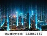 abstract software developer... | Shutterstock . vector #633863552