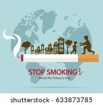 world no tobacco day concept... | Shutterstock .eps vector #633873785
