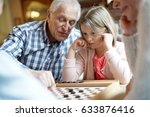 grand parents with grandkids... | Shutterstock . vector #633876416