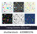 collection of seamless grunge... | Shutterstock .eps vector #633880196